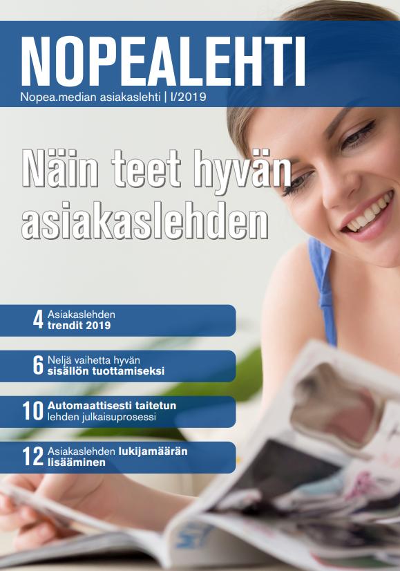 Nopealehti - Nopea.median asiakaslehti I/2018 kansilehti